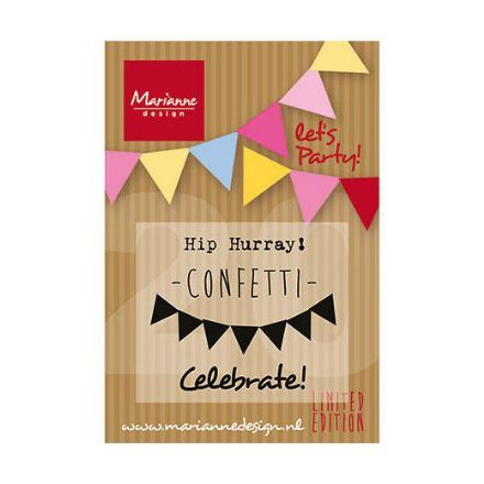 PP1403 ~ LET'S PARTY ~ set 4 Marianne Designs Clear stamps